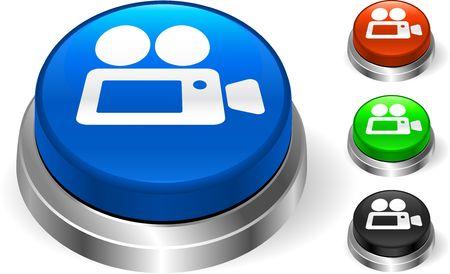 Video Camera on Internet Button Original  Illustration Three Dimensional Buttons Stock Illustration - 6589633