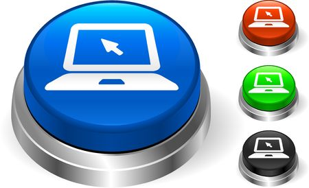 Laptop Icon on Internet Button Original Illustration Three Dimensional Buttons illustration