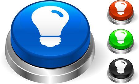 Light Bulb Icon on Internet Button Original Illustration Three Dimensional Buttons Stock Illustration - 6589759