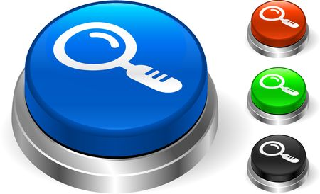 Magnifying Glass on Internet Button Original  Illustration Three Dimensional Buttons Stock Illustration - 6589749
