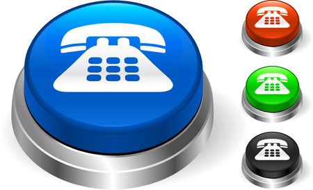 phone: Telephone Icon on Internet Button  Original Illustration Three Dimensional Buttons