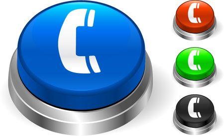 Phone Icon on Internet Button Original  Illustration Three Dimensional Buttons Stock Illustration - 6589907