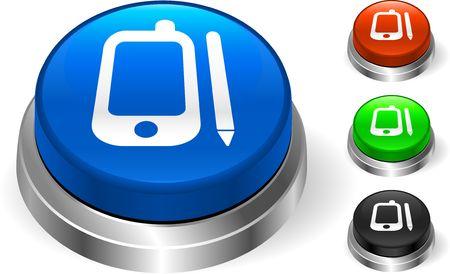 Organizer on Internet Button Original  Illustration Three Dimensional Buttons Stock Illustration - 6589758