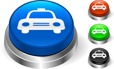 Taxi Cab Icon on Internet Button Original  Illustration Three Dimensional Buttons Stock Illustration - 6589631