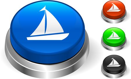 Sail Icon on Internet Button Original  Illustration Three Dimensional Buttons Stock Illustration - 6589904