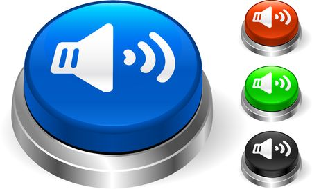 Speaker Icon on Internet Button Original  Illustration Three Dimensional Buttons Stock Illustration - 6589632