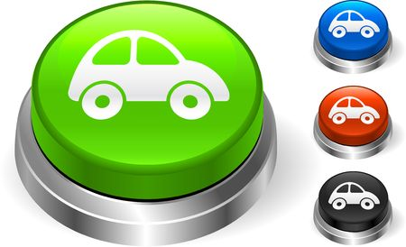 Car Icon on Internet Button Original Illustration Three Dimensional Buttons illustration