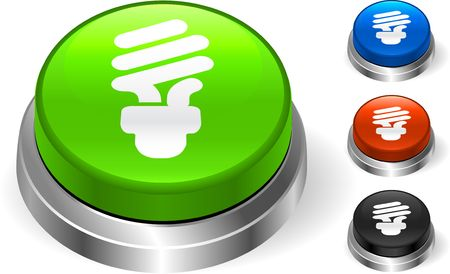 metal light bulb icon: Light Bulb Icon on Internet Button Original  Illustration Three Dimensional Buttons