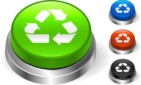 Recycle Symbol On internet Icon Original  Illustration Three Dimensional Buttons Stock Illustration - 6589748