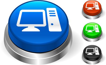 Computer Icon on Internet Button Original  Illustration Three Dimensional Buttons illustration