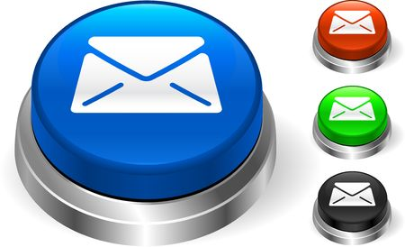 Mail Icon on internet Button Original  Illustration Three Dimensional Buttons Stock Illustration - 6589626