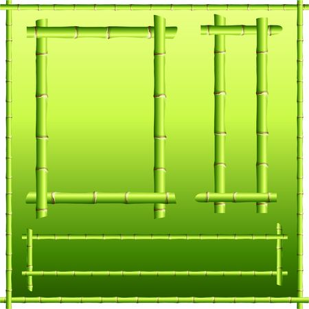 Original  Illustration: bamboo border elements AI8 compatible