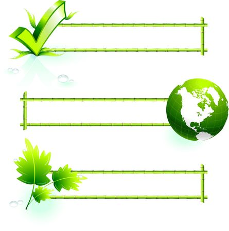 Original  Illustration: bamboo border elements AI8 compatible  illustration