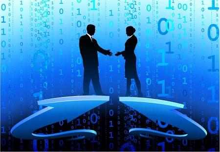 Original  Illustration: Business greeting AI8 compatible