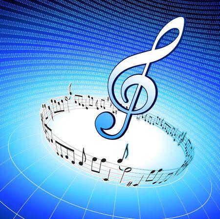 Bedrijf van Music originele illustratie