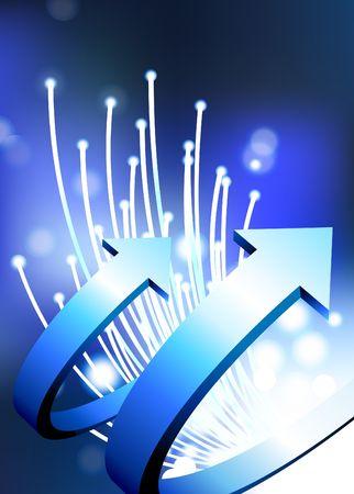 Original  Illustration: arrows on fiber optic background AI8 compatible