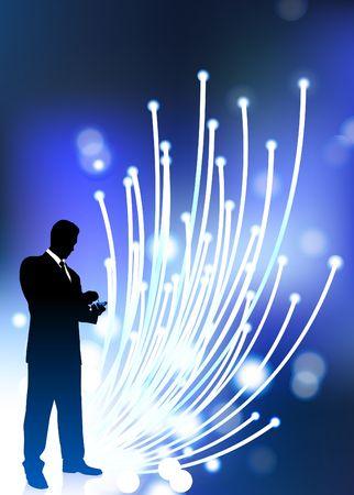 Original  Illustration: Business communication fiber Optic cable internet background AI8 compatible illustration