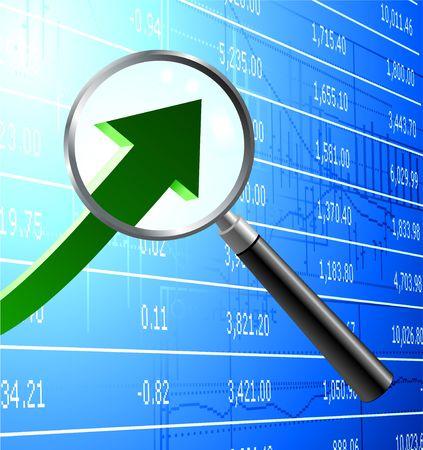 buying stock: Original  Illustration: Focus on buying stock market background