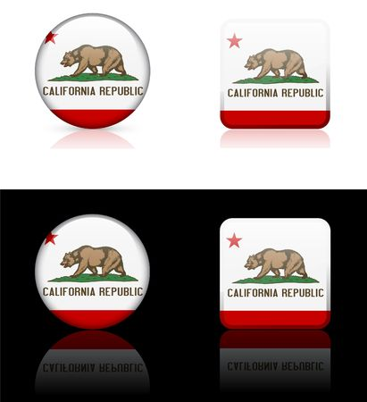 California Icon on Internet Button Original  Illustration AI8 Compatible illustration