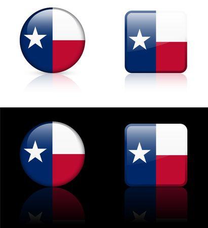 digitally generated image: Texas Flag Icon on Internet Button Original  Illustration AI8 Compatible Stock Photo