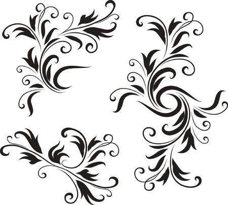 abstract flowers: Abstract Black and White Design Pattern  Original  Illustration Black and White Design Pattern Ideal for Abstract Background