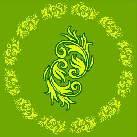 Abstract Floral Green Design Pattern Original  Illustration Coloredful Design Pattern Ideal for Abstract Background Reklamní fotografie