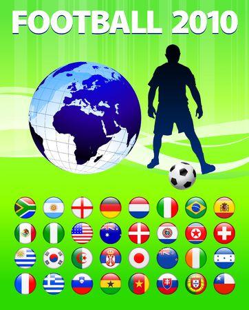 2010 Global Soccer Football Match Original  Illustration Reklamní fotografie