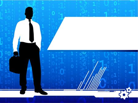 Original Illustration: Business report background AI8 compatible illustration