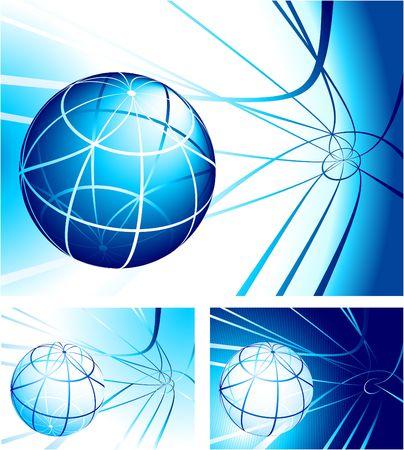 Globe Set Original Illustration Globe Set Ideal for Business concept