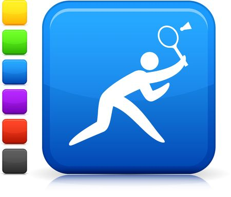 badminton: Original  icon. Six color options included.