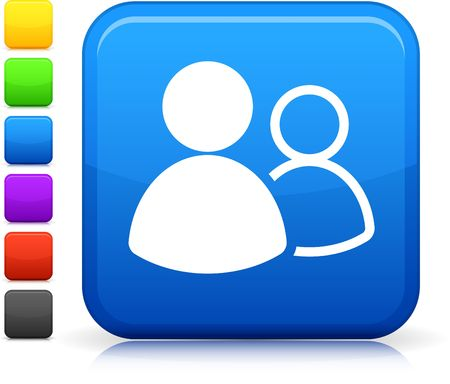 small group of objects: Original  icon. Six color options included.