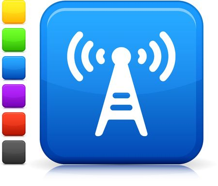 radio tower: Original  icon. Six color options included.