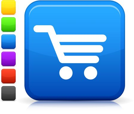 shopping cart icon: Original  icon. Six color options included.