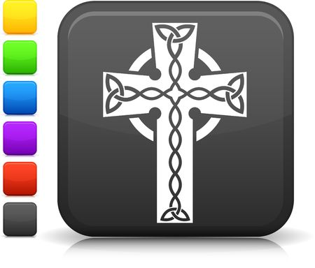 croce celtica: Icona originale. Sei opzioni colore incluse. Archivio Fotografico