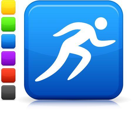 hombres corriendo: Icono original. Seis opciones de color incluidas.