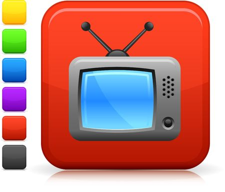 television aerial: Original  icon. Six color options included.