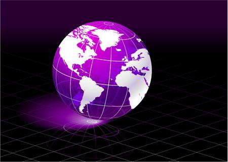 ビジネス コンセプトに紫の惑星オリジナル イラスト世界最適