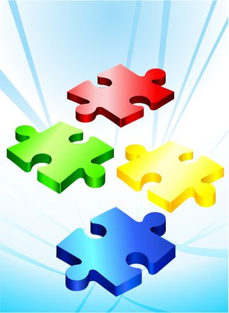 Incomplete Puzzle Pieces Original  Illustration Incomplete Puzzle  illustration