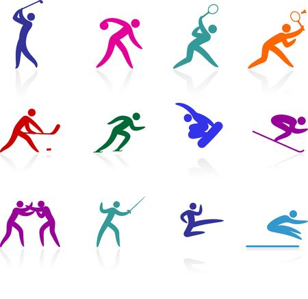 Original  illustration: competative and sports competition sports icon collection
