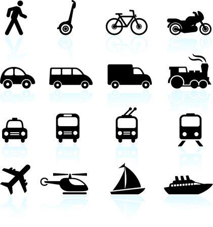 Original  illustration: Transportation icons design elements