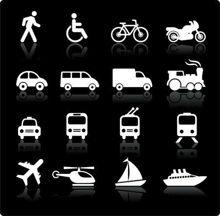 원래 그림 : 교통 아이콘 디자인 요소