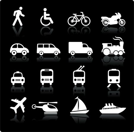 passenger vehicle: Ilustraci�n original: elementos de dise�o de iconos de transporte