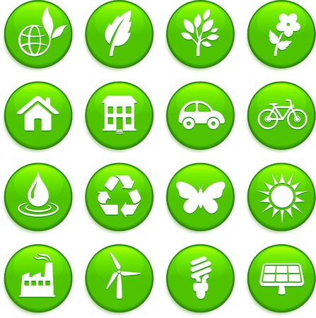 Original illustration: environment elements icon set Stock Illustration - 6605374