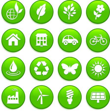 Original illustration: environment elements icon set Stock fotó