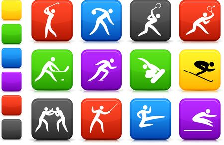 Original illustration: competative and olympic sports icon collection illustration
