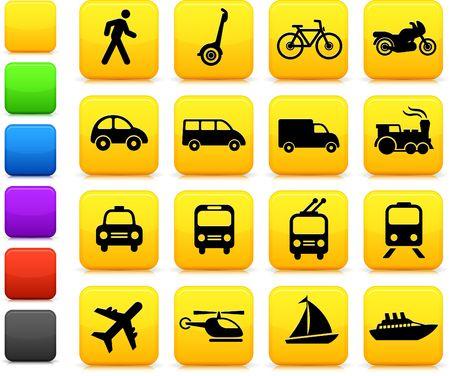 Original  illustration: Transportation icons design elements Stock Illustration - 6604840
