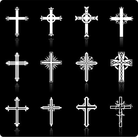 Originele illustratie: religieuze cross design collectie