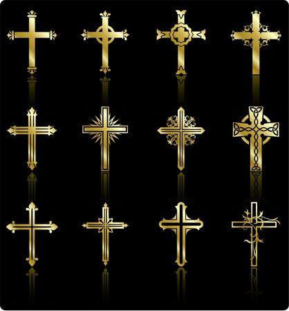 design: Original  Illustration: religious cross design collection