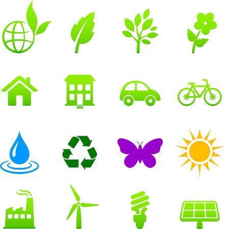 Original  illustration: environment elements icon set Stock Illustration - 6602696