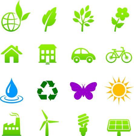 Original  illustration: environment elements icon set illustration
